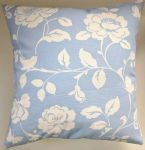 "Cushion Cover in Clarke and Clarke Meadow in Powder Blue 14"" 16"" 18"" 20"""